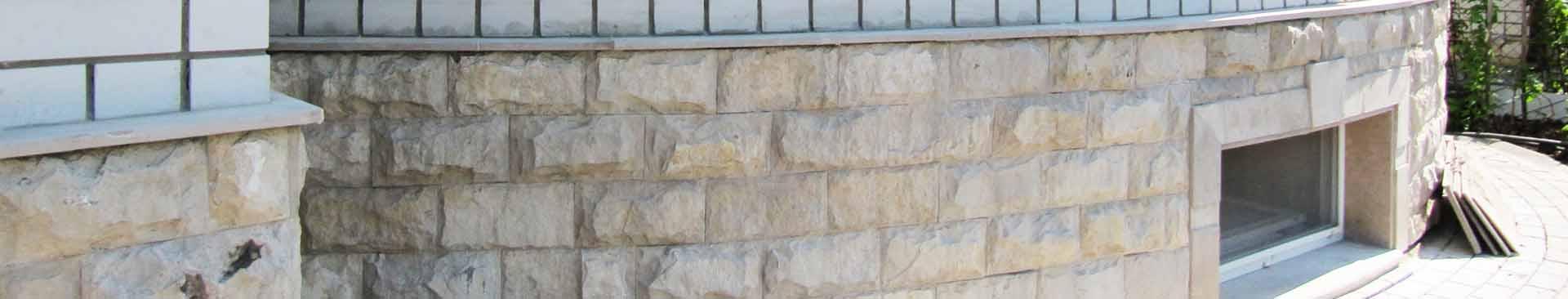 Плита из натурального камня на цоколь. Цокольная плитка. Купить доломит.